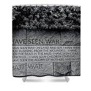 I Hate War Shower Curtain by Allen Beatty