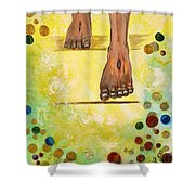 I knock Shower Curtain by Cassie Sears