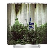 I Love You Shower Curtain by Trish Mistric