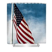 I Pledge Allegiance Shower Curtain by Shelby  Young