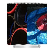 I Saw A Circular Saw Shower Curtain by Marlene Burns