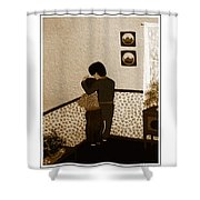 I Stay Wif You Shower Curtain by Barbara Griffin
