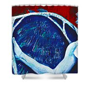 Icarus Shower Curtain by Derrick Higgins