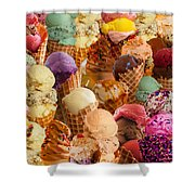 Ice Cream Crazy Shower Curtain by Alixandra Mullins