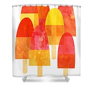 Ice Lollies Shower Curtain by Nic Squirrell