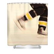 Ice Speed Shower Curtain by Karol Livote