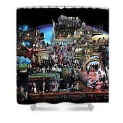 Icons Of History And Entertainment Shower Curtain by Ylli Haruni