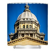 Illinois State Capitol Dome In Springfield Illinois Shower Curtain by Paul Velgos