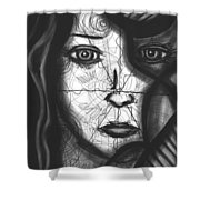 Illumination Of Self Shower Curtain by Daina White