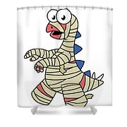 Illustration Of A Stegosaurus Dressed Shower Curtain by Stocktrek Images