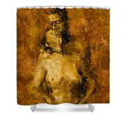 I'm Yours Forever Shower Curtain by Kurt Van Wagner