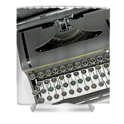 Imagination Typewriter Shower Curtain by Rudy Umans