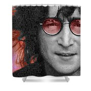 Imagine John Lennon Again Shower Curtain by Tony Rubino