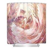 Immanuel Shower Curtain by Rachel Christine Nowicki