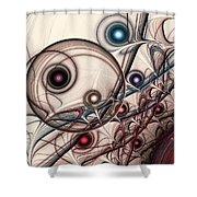 Implantation Shower Curtain by Anastasiya Malakhova