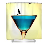 Impression Sunrise Sailing On The Cups Little People On Food Shower Curtain by Paul Ge