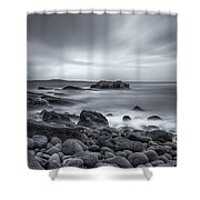 In A Tidal Wave Of Mystery Shower Curtain by Evelina Kremsdorf