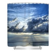In Heaven's Light - Beach Ocean Art By Sharon Cummings Shower Curtain by Sharon Cummings