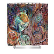In My Minds Eye Shower Curtain by Susan Leggett