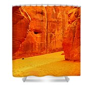 In Orange Chasms Shower Curtain by Jeff Swan