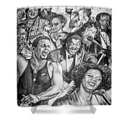 In Praise Of Jazz Shower Curtain by Steve Harrington