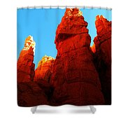 In Shadows Where The Gods Wander Shower Curtain by Jeff Swan
