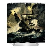 In The Dark Shower Curtain by Melly Terpening