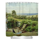 In The Garden Shower Curtain by Thomas James Lloyd