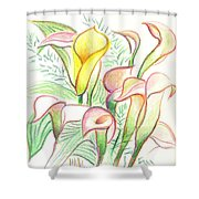 In The Golden Afternoon Shower Curtain by Kip DeVore