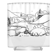 In The Land Of Brigadoon  Shower Curtain by Kip DeVore