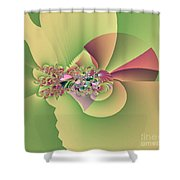 In The Land Of Fairies Shower Curtain by Maria Urso