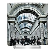 In The Louvre  Shower Curtain by Marianna Mills