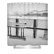 In the rain Shower Curtain by Ivy Ho
