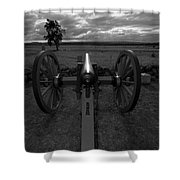 In The Sights At Gettysburg Shower Curtain by James Brunker