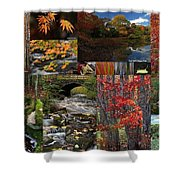 Incredible New England Fall Foliage Photography Shower Curtain by Juergen Roth