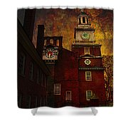 Independence Hall Philadelphia Let Freedom Ring Shower Curtain by Jeff Burgess