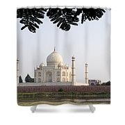 India, Temple Burial Site Seen Shower Curtain by Bill Bachmann