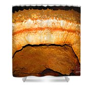 Indian Headdress. Sitting Bull Crystal Caverns Shower Curtain by Ausra Paulauskaite