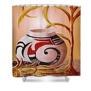 Indian Summer Shower Curtain by Ronald Chambers