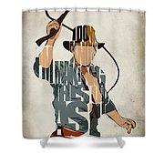 Indiana Jones - Harrison Ford Shower Curtain by Ayse Deniz