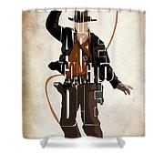 Indiana Jones Vol 2 - Harrison Ford Shower Curtain by Ayse Deniz