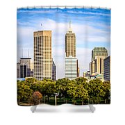 Indianapolis Skyline Picture Shower Curtain by Paul Velgos