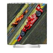 Indy Car's Tony Kanaan Shower Curtain by Blake Richards