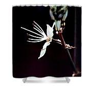 infrared Asphodel Shower Curtain by Stelios Kleanthous