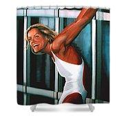 Inge De Bruin 2 Shower Curtain by Paul Meijering