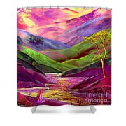 Inner Flame Shower Curtain by Jane Small