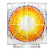 Inner Light Shower Curtain by Moira Rowe