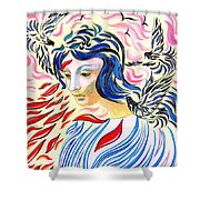 Inner Peace Shower Curtain by Jane Small