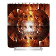 Inner Strength - Abstract Art Shower Curtain by Carol Groenen