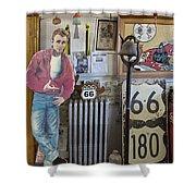 Inside Jackrabbit Trading Post Shower Curtain by Priscilla Burgers